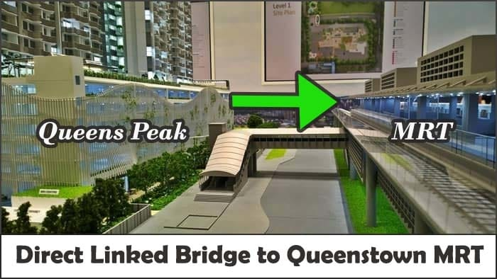 Direct linked bridge from Queens peak to Queenstown MRT