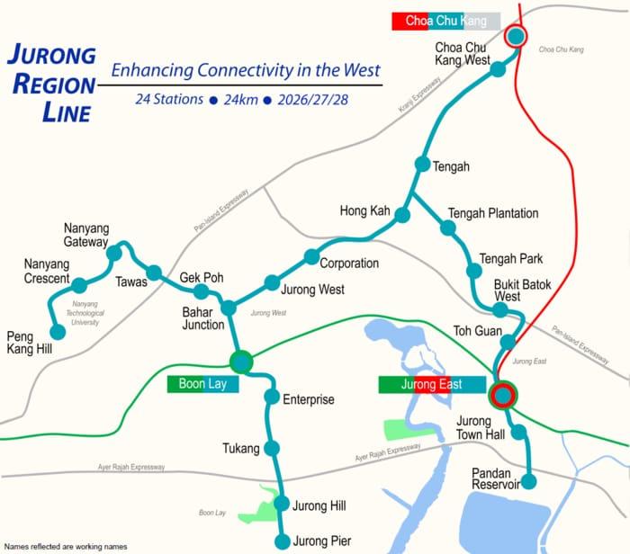 Jurong Region Line MRT