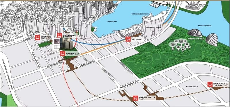 Marina One Residences location