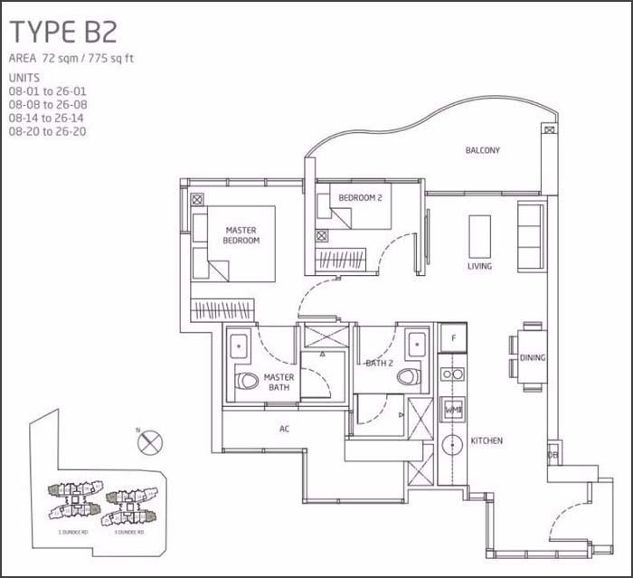 Queens Peak Floor Plan 2 Bedroom