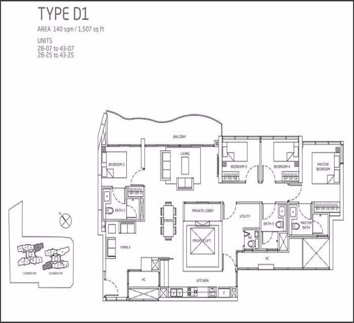 Queens Peak Floor Plan 4 Bedroom + Utility D1