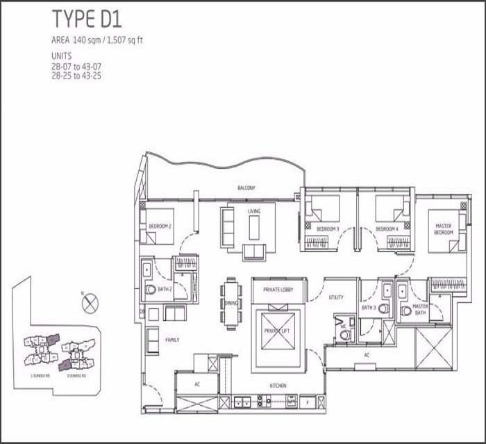 Queens Peak Floor Plan 4 Bedroom + Utility D1