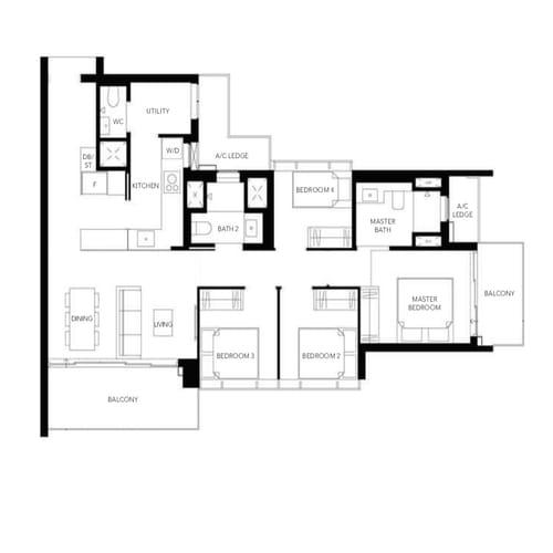 Margaret Ville Floor Plan 4 Bedroom
