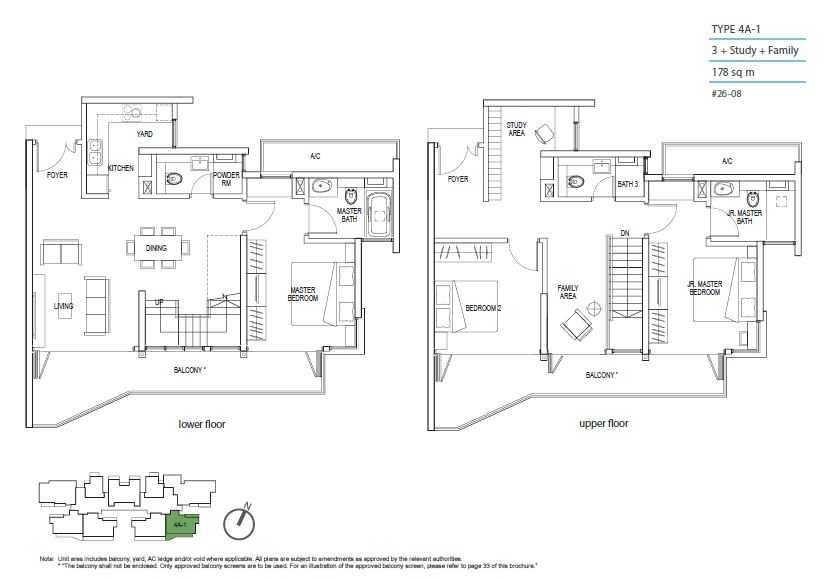 Kallang Riverside Floor Plan 3 Bedroom + Study