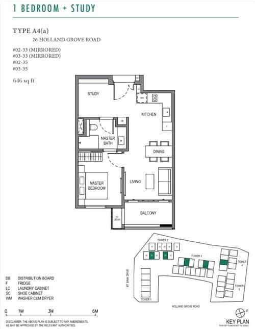 parksuites floorplan 1 + Study