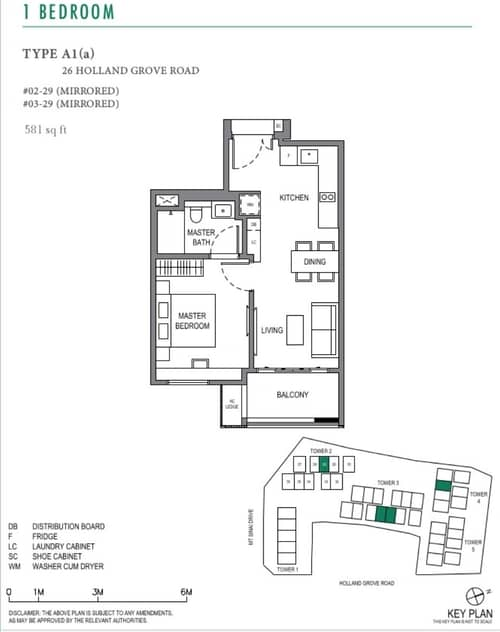 parksuites floorplan 1 bedroom