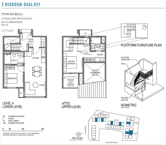 parksuites floorplan 2 Bedroom Dual Key