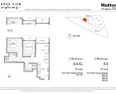 Harbour View Gardens Floor Plan 2 Bedroom