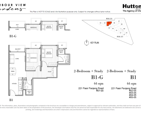 Harbour View Gardens Floor Plan 2 + Study
