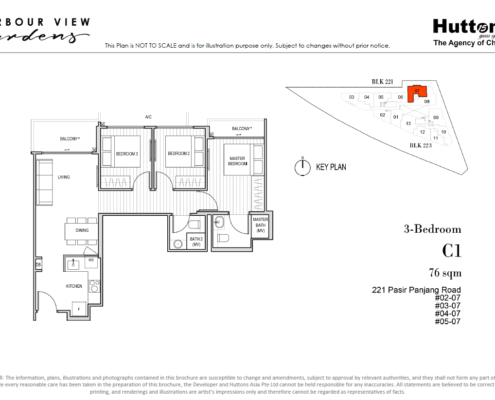 Harbour View Gardens Floor Plan 3 Bedroom