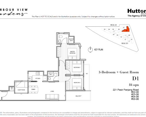 Harbour View Gardens Floor Plan 3 + Guest