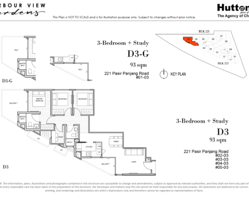 Harbour View Gardens Floor Plan 3 + Study