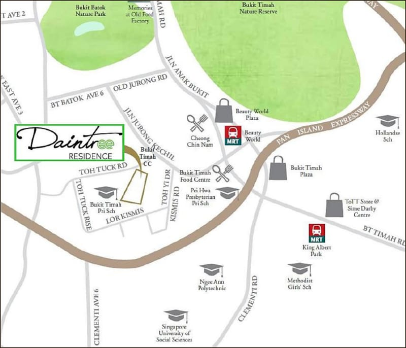 Daintree Residence location map