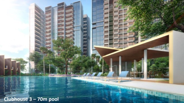 Riverfront Residences Clubhouse 3 - 70m Pool