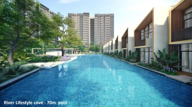Riverfront Residences River Lifestyle Cove 70m Pool