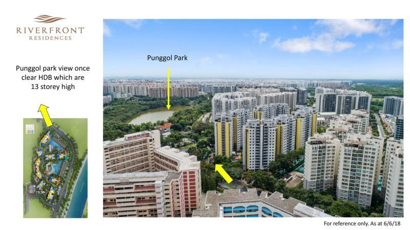 Riverfront Residences Punggol Park Facing