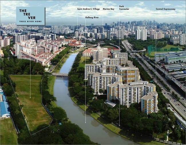 Tre Ver condo aerial view
