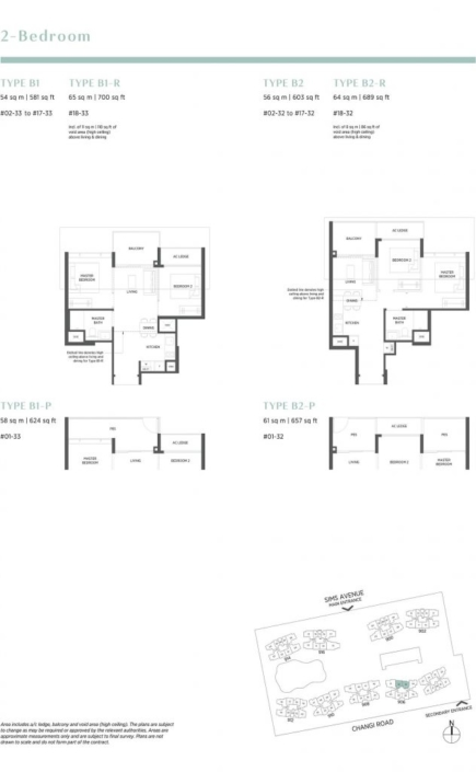 Parc Esta Floor Plan 2 Bedroom
