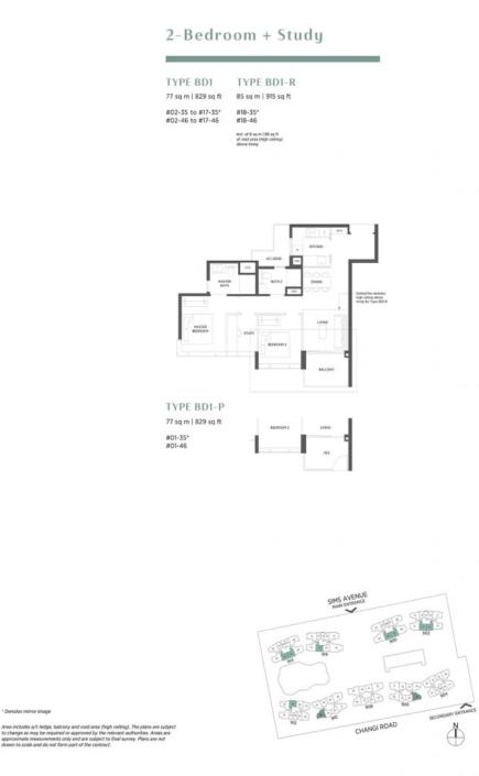 Parc Esta Floor Plan 2+Study