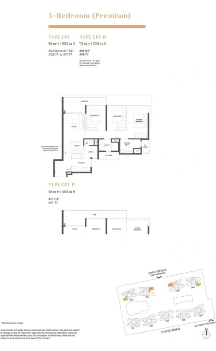 Parc Esta Floor Plan 3 Bedroom Premium