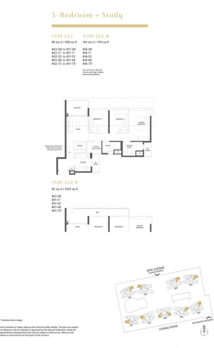 Parc Esta Floor Plan 3+Study