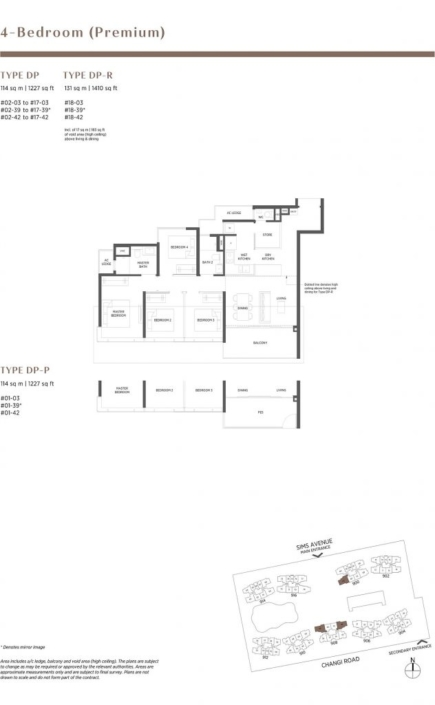 Parc Esta Floor Plan 4 Bedroom Premium