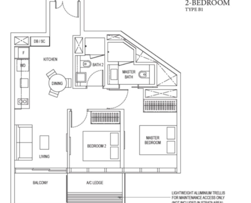 Amber Park Floor Plan 2 Bedroom
