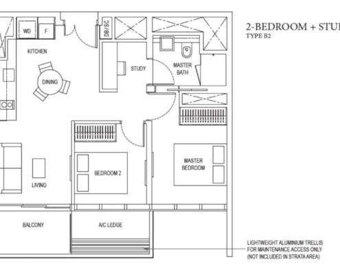 Amber Park Floor Plan 2 + Study