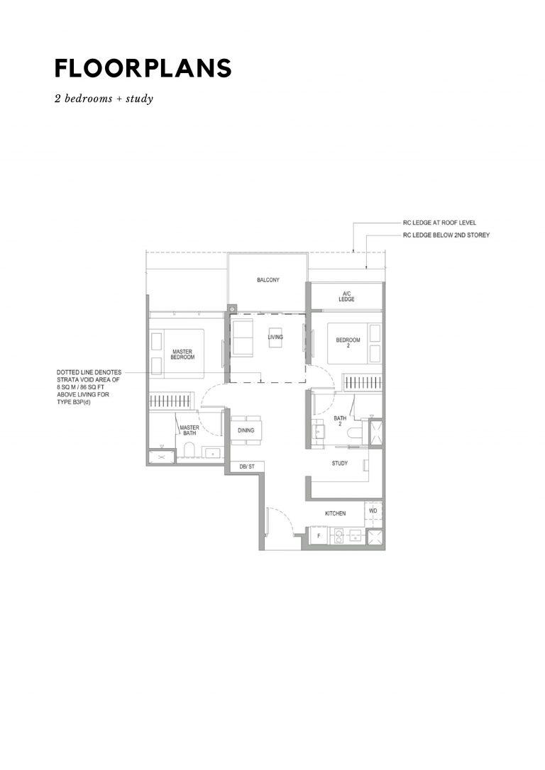 Sengkang Grand Residences Floor Plan 2+Study