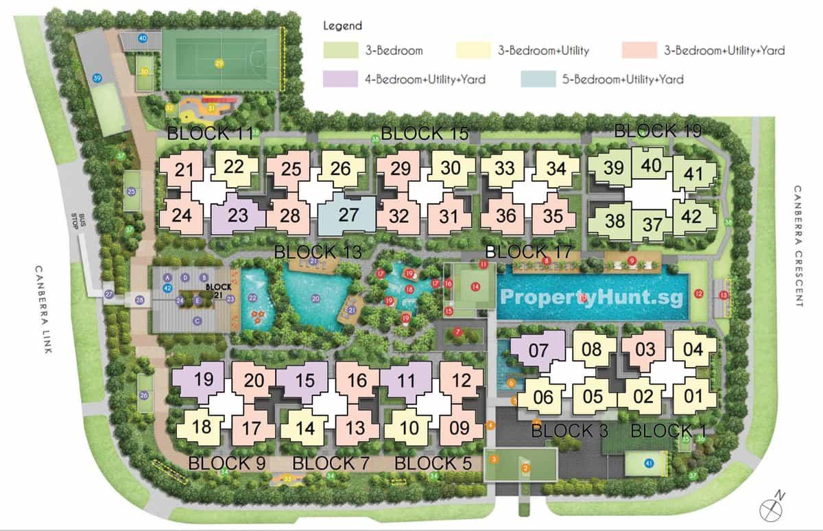 Parc Canberra EC Site Plan Floor Plan