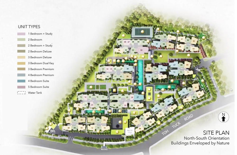 Forett Bukit Timah condo site plan