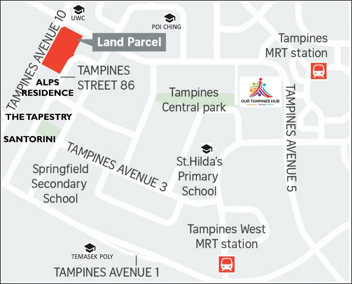 Tampines Ave 10 EC location