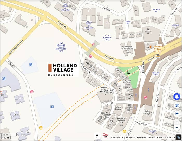 Location of One Holland Village Residences