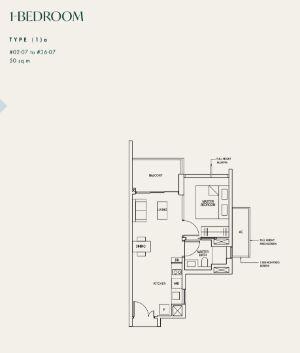 Avenir Condo Floor Plan 1 Bedroom A