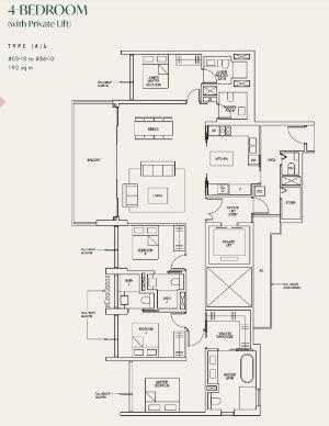 Avenir Condo Floor Plan 4 Bedroom