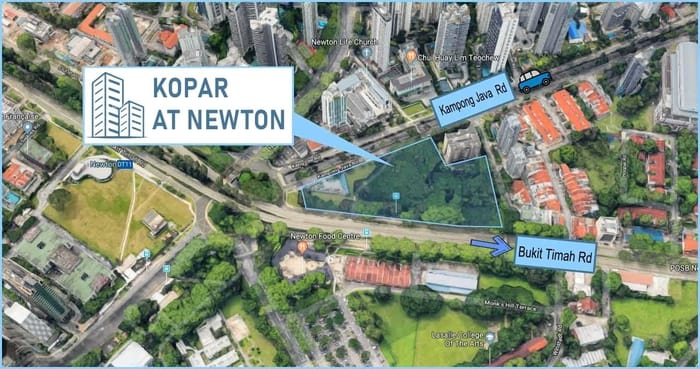 Kopar at Newton condo location