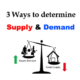 3 Ways to Determine the Supply & Demand