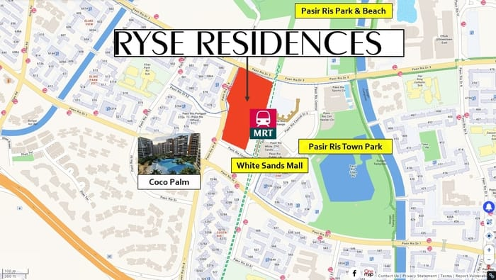 Ryse Residences location