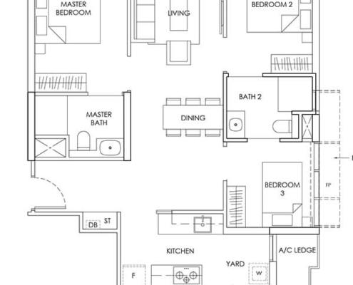 3-Bedroom-Type-C2-926sqft
