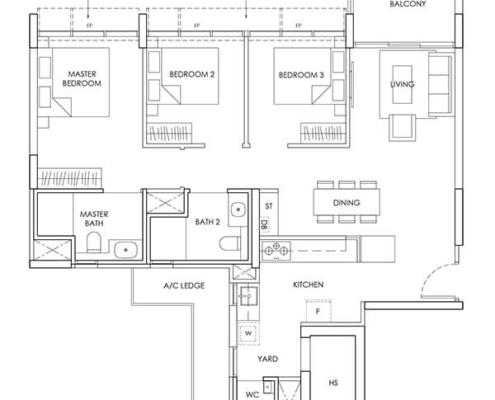3-Bedroom-Type-C3-1044sqft