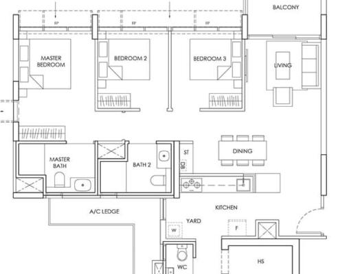 3-Bedroom-Type-C4-1044sqft