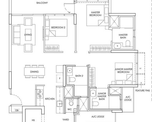 3-Bedroom-Type-C6-1249sqft