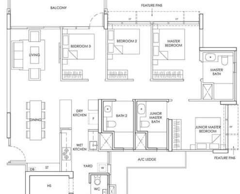 4-Bedroom-Type-D1-1399sqft