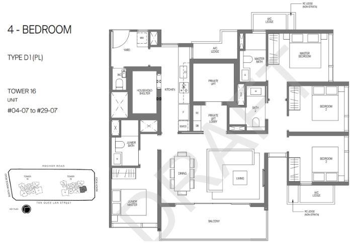 Midtown Modern Floorplan 4 Bedroom