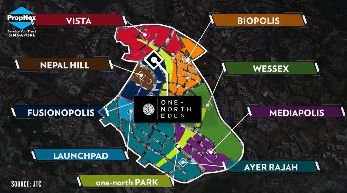 One North Eden condo location 2