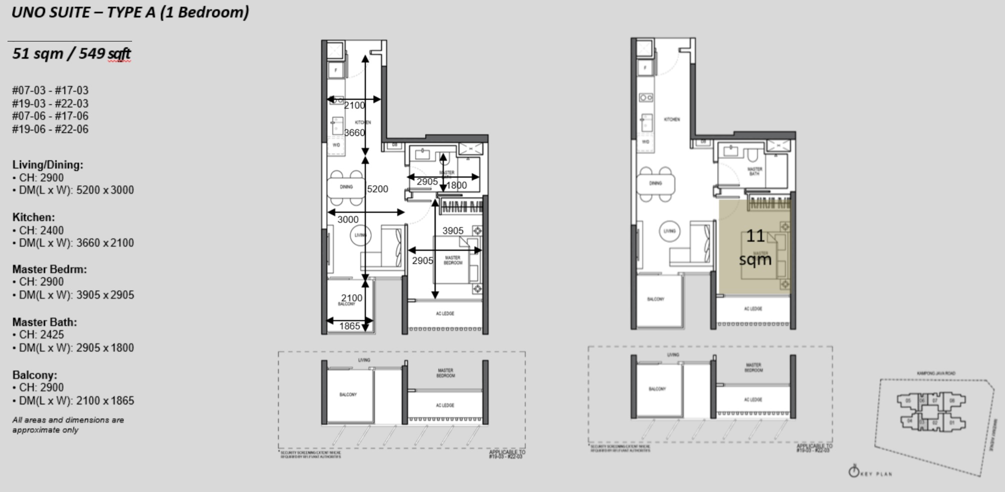 The Atelier condo floorplan 1 bedroom