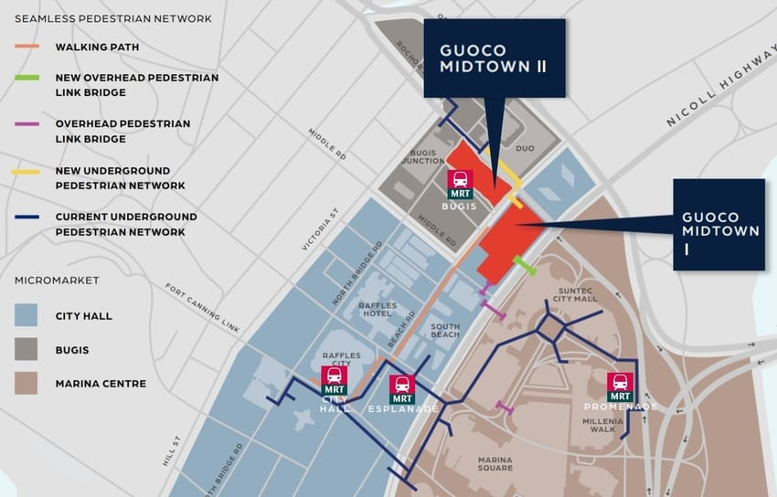 Seamless Network around Guoco Midtown Modern Bugis