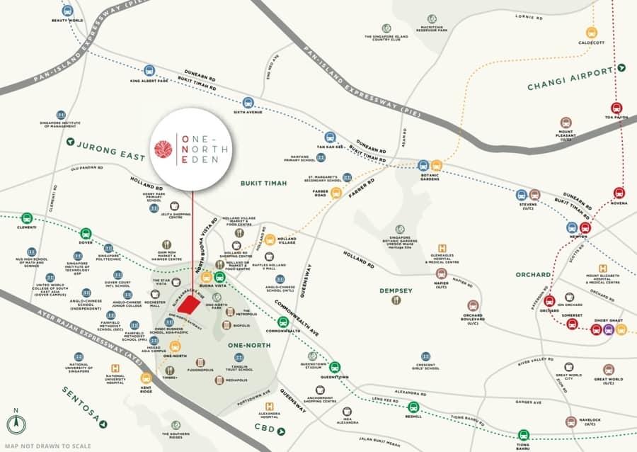 one north eden condo location
