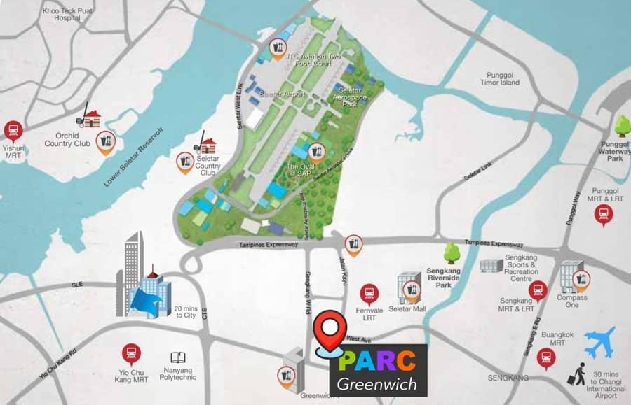 Seletar Aerospace Park near Parc Greenwich EC