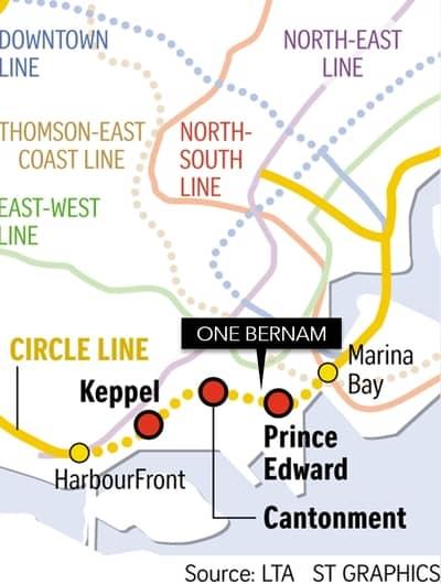 Circle Line Loop Prince Charles MRT near One Bernam condo